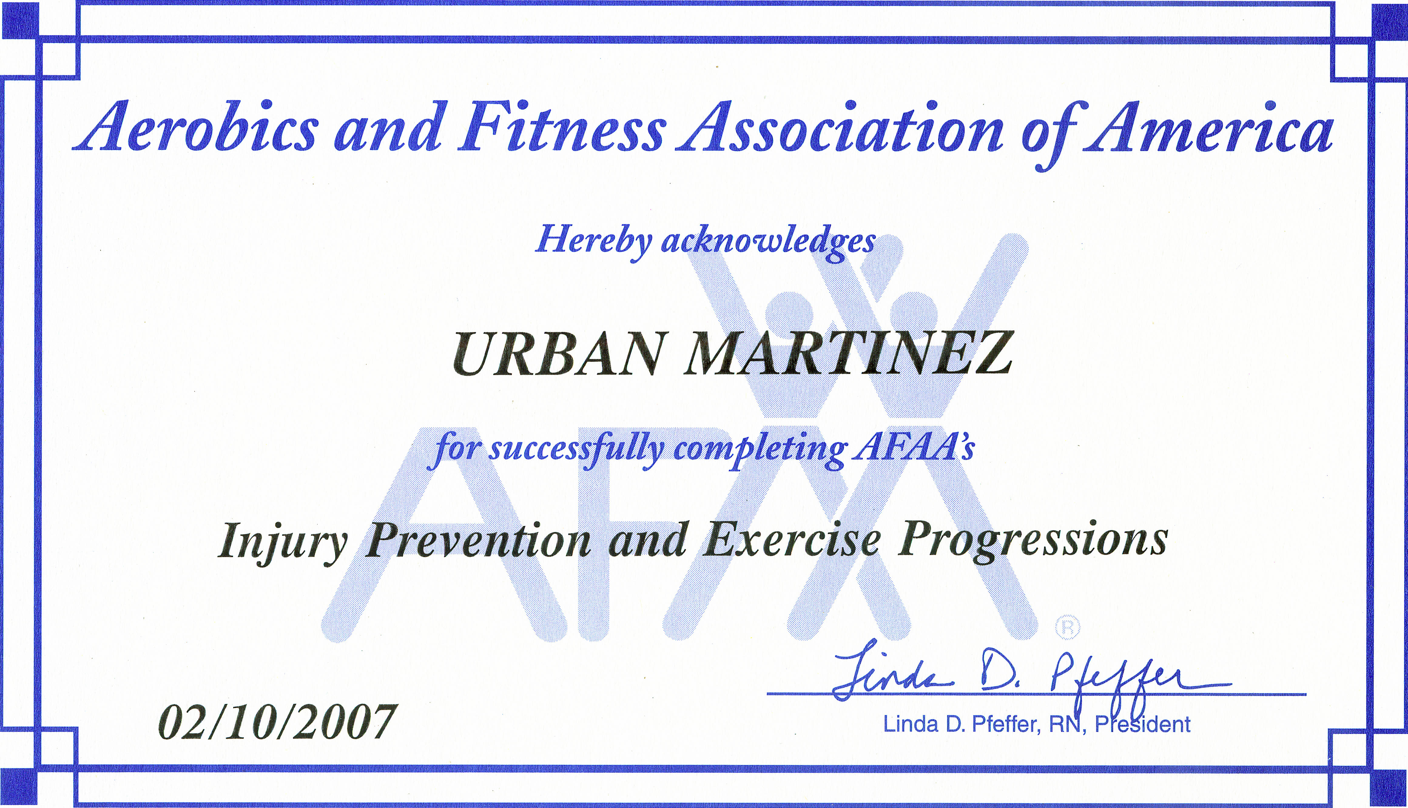 Injury Prevention and Excerise Progressions Certificate