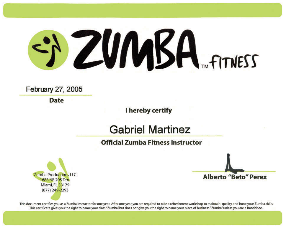 Zumba Fitness Instructor Certification 6photo